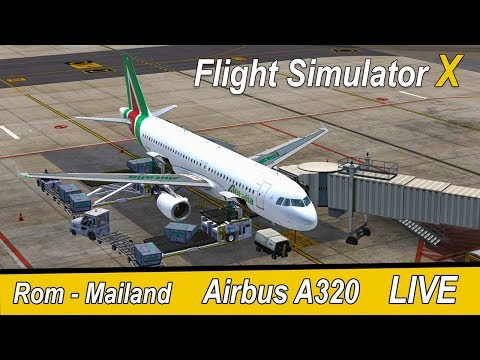 FSX | IVAO | Rom - Mailand | Alitalia Airbus A320 | Liongamer1