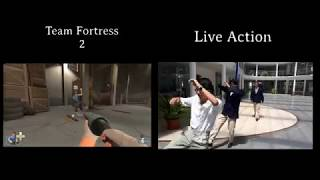Team Fortress Live Action Split Screen