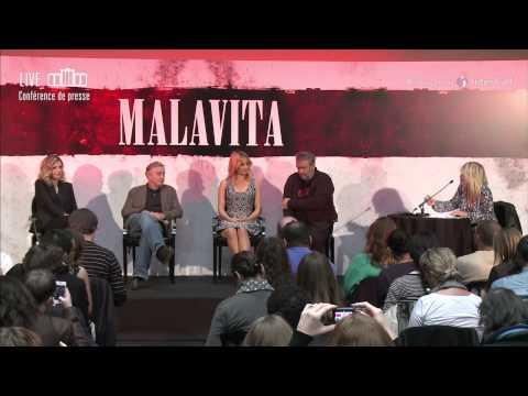 MALAVITA la conférence de presse - Robert De Niro, Michelle Pfeiffer, Dianna Agron et Luc Besson