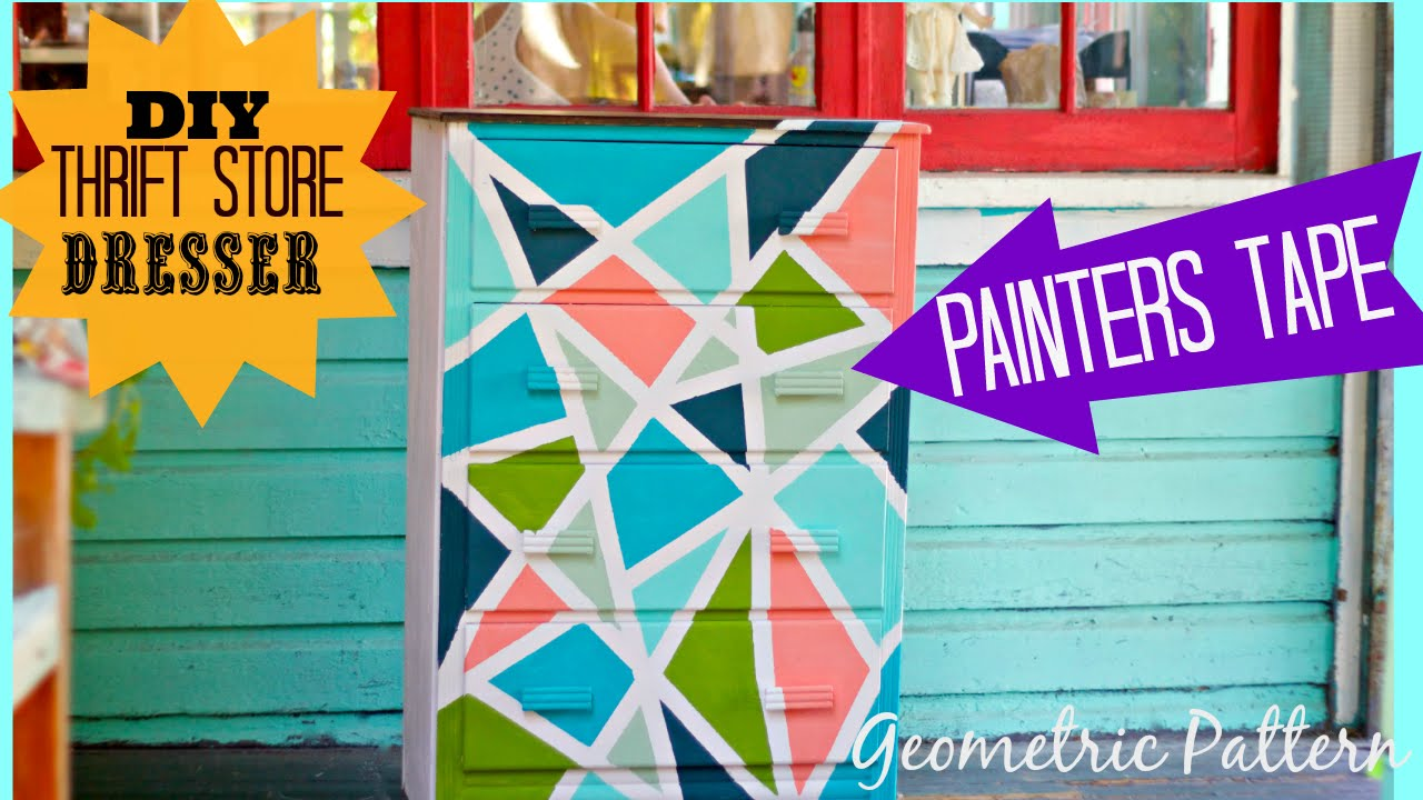 Poster design diy - Diy Geometric Pattern With Painters Tape And Chalk Type Paint Debi S Design Diary