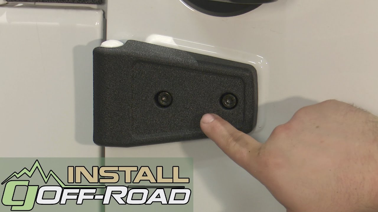 Jeep Wrangler Rugged Ridge Door Hinge Cover Black Textured Set 2 2007 2018 Installation