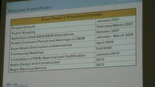Metro Expo Line final planning meeting: Presentation (Part 4)