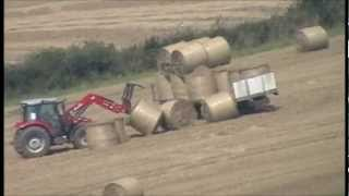 when stacking bales goes wrong