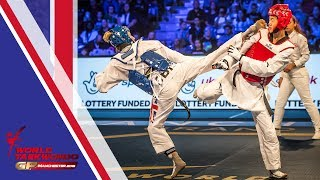 Manchester 2018 World Taekwondo GP [Female -57Kg FINAL]  JONES, JADE(GBR) vs ZHOU, LIJUN(CHN)