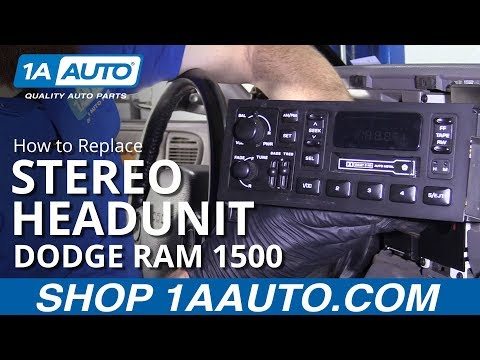 How To Replace Stereo 94-02 Dodge Ram 1500