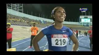 Elaine Thompson 10 73 edges Shellyann Fraser Pryce & Briana Williams 100m Final JAAA SENIOR Trials