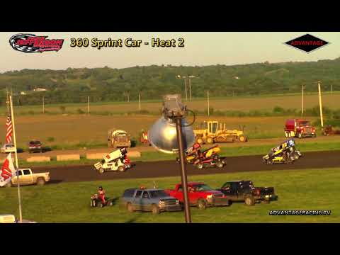 360 Sprint Car Heats - Park Jefferson Speedway - 5/26/18