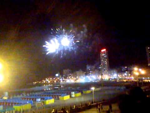 Fuegos Artificiales En La Feliz Desde La Terraza Del Casino Central