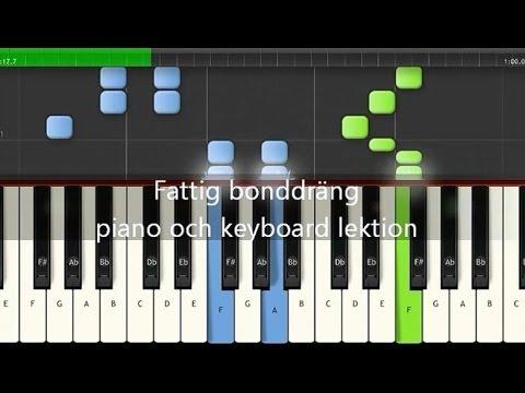 Fattig Bonddräng Piano Lektion Med Melodi Och Ackord