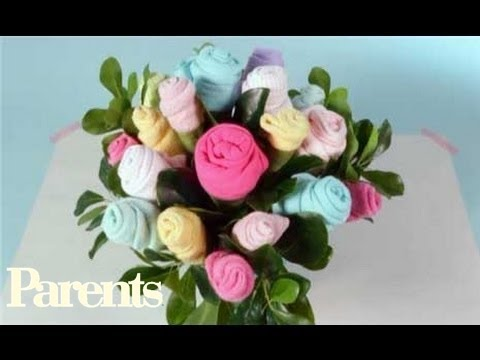 42cf95255aeb Baby Shower Ideas - Easy Onesie Bouquet | Parents - YouTube