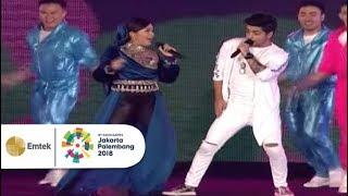 Download lagu Siddarth Slathia, Denada - Koi Mil Gaya dan Kuch Kuch Hota Hai | Closing Ceremony Asian Games 2018