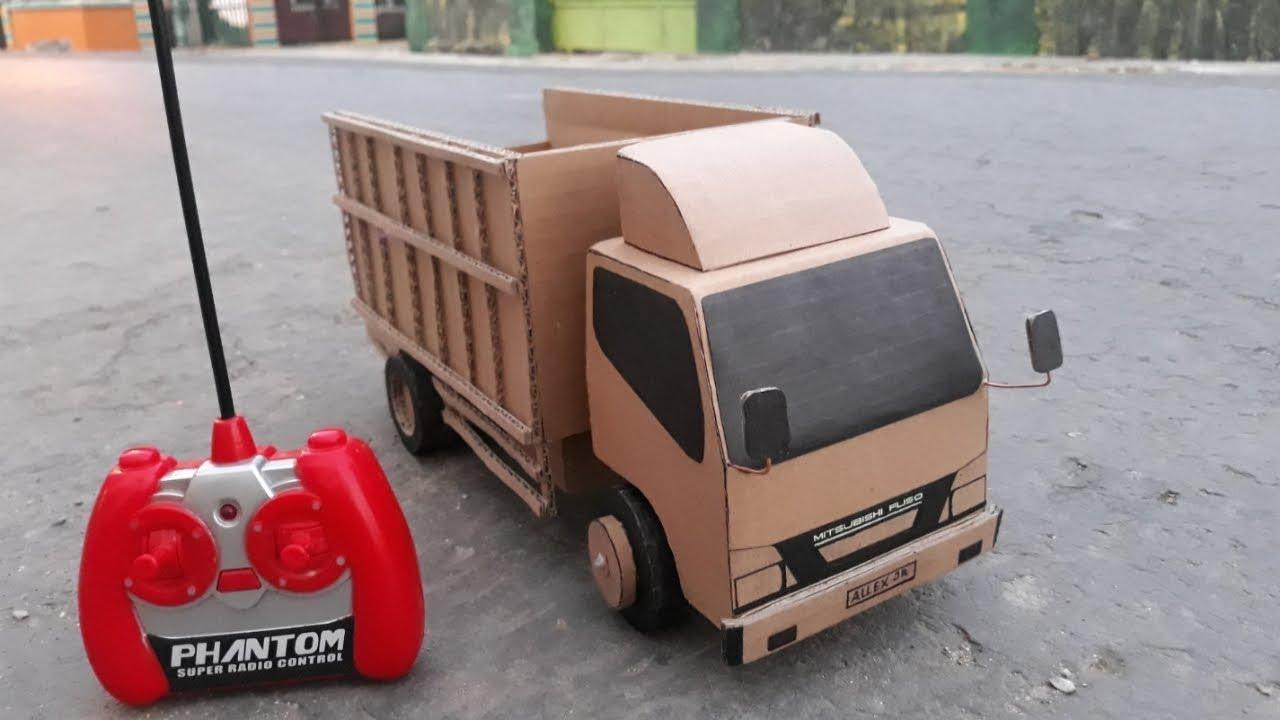 Cara Membuat Miniatur Truk Dari Kardus Bekas Remot Mobil Mainan Youtube