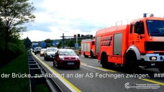 LB 23 | Einsatzdokumentation - Alarmübung BAB 6 - Fechinger Talbrücke
