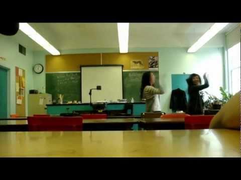 Empty classroom + music. :)