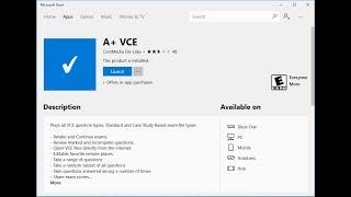 A+ VCE on Windows 10