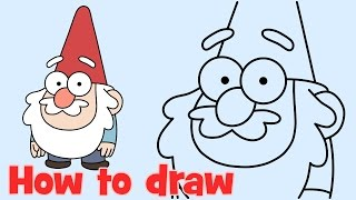 How to draw Gnome from Gravity Falls characters step by step