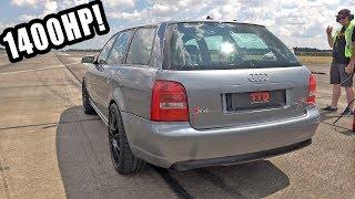 1400HP Audi S4 B5 3.0 V6 Biturbo TTD 306Km/h Brutal Accelerations!