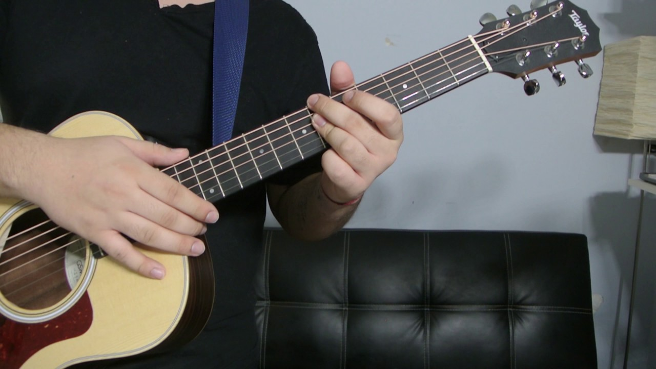 How To Play A B Flat Minor 7th Chord Guitar Tutorial Youtube