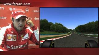 F1 2013 - Ferrari - A virtual lap of the Hungaroring with Felipe Massa