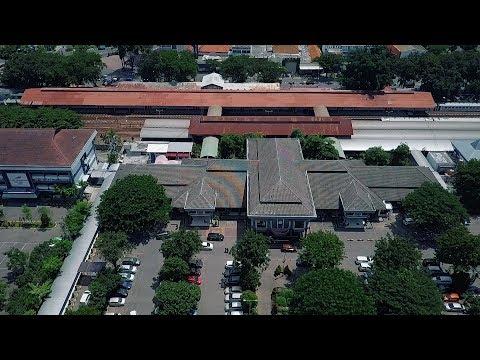 Stasiun Surabaya Gubeng And Kantor Daop 8 KAI , Footage From Above With Mavic Pro
