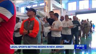 Governor places first wagers as sports betting opens for business in NJ