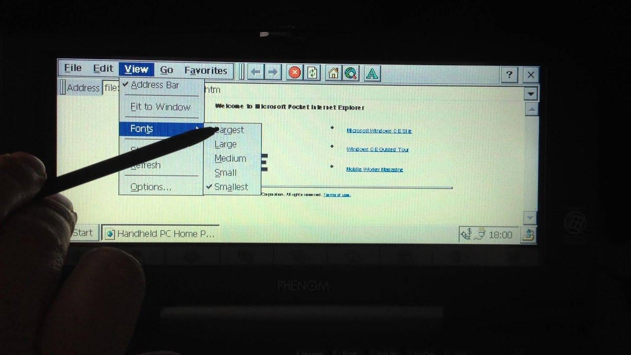 Windows CE Pocket Internet Explorer 20 YouTube