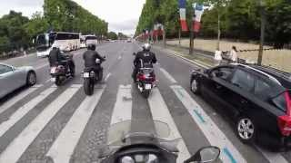 2014-07-12 Paris Tour mit dem Piaggio MP3