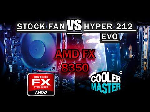 Hyper 212 EVO on AMD FX 8350 | temps and fan noise vs stock fan