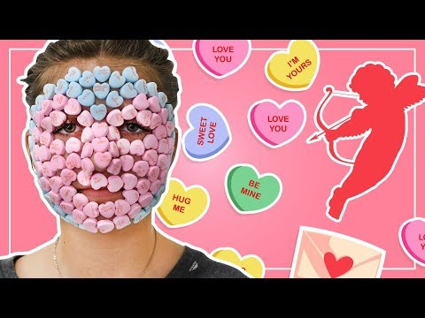 FULL FACE of Valentine's Day Candy (YUM!) + REMOVAL!   Kamri Noel