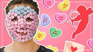 FULL FACE of Valentine's Day Candy (YUM!) + REMOVAL! | Kamri Noel