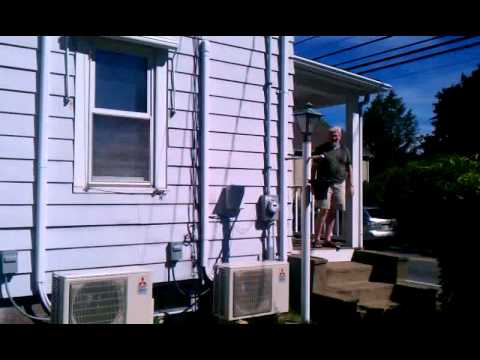 Ductless Split and Line Chase in Ipswich, Massachusetts