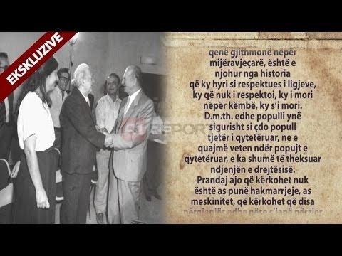 A1 Report - Ekskluzive/ Biseda mes Ramizit Kadaresë dhe Berishës në 1990 - Pjesa e 3