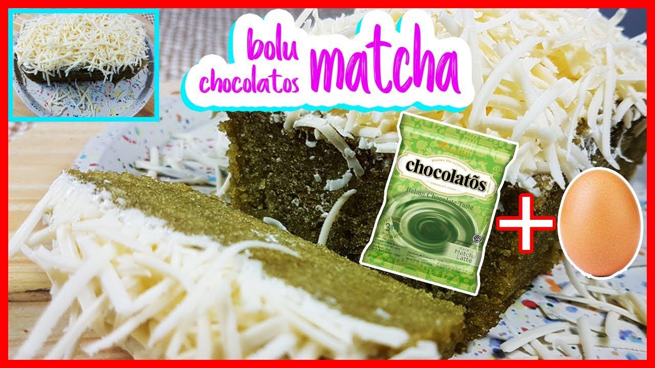 BOLU CHOCOLATOS MATCHA || 1 TELUR || NO OVEN (cuma 2 menitan)