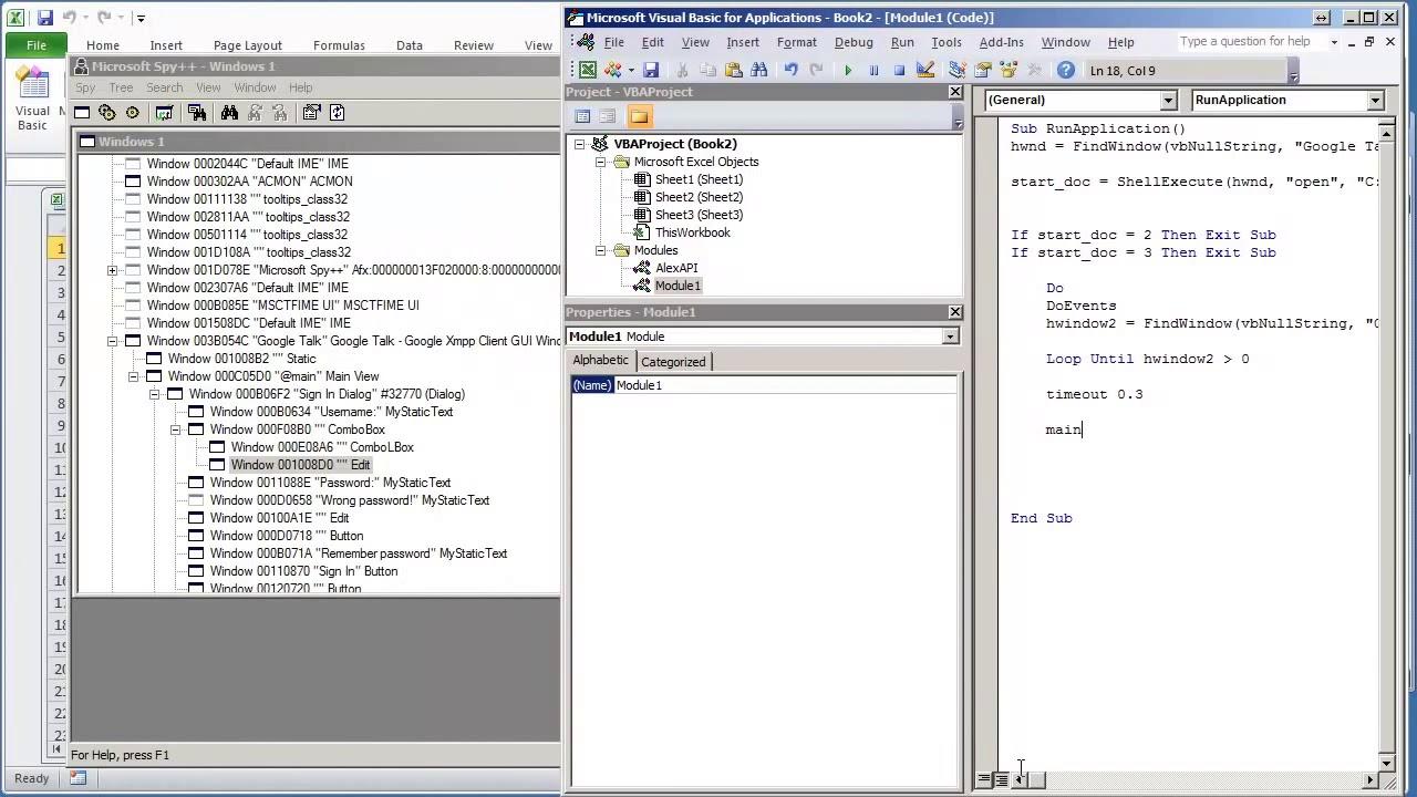 04 VBA Excel Windows API V1 03 Send Text WM SETTEXT to Edit Box in External  App