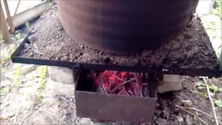 Коптильня горячего копчения из бочки