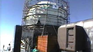 富士山・測候所レーダードームの撤去2001