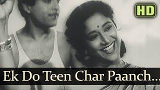 Ek Do Teen - Parivaar Songs - Jairaj - Usha Kiran - Asha Bhosle - Hemant Kumar