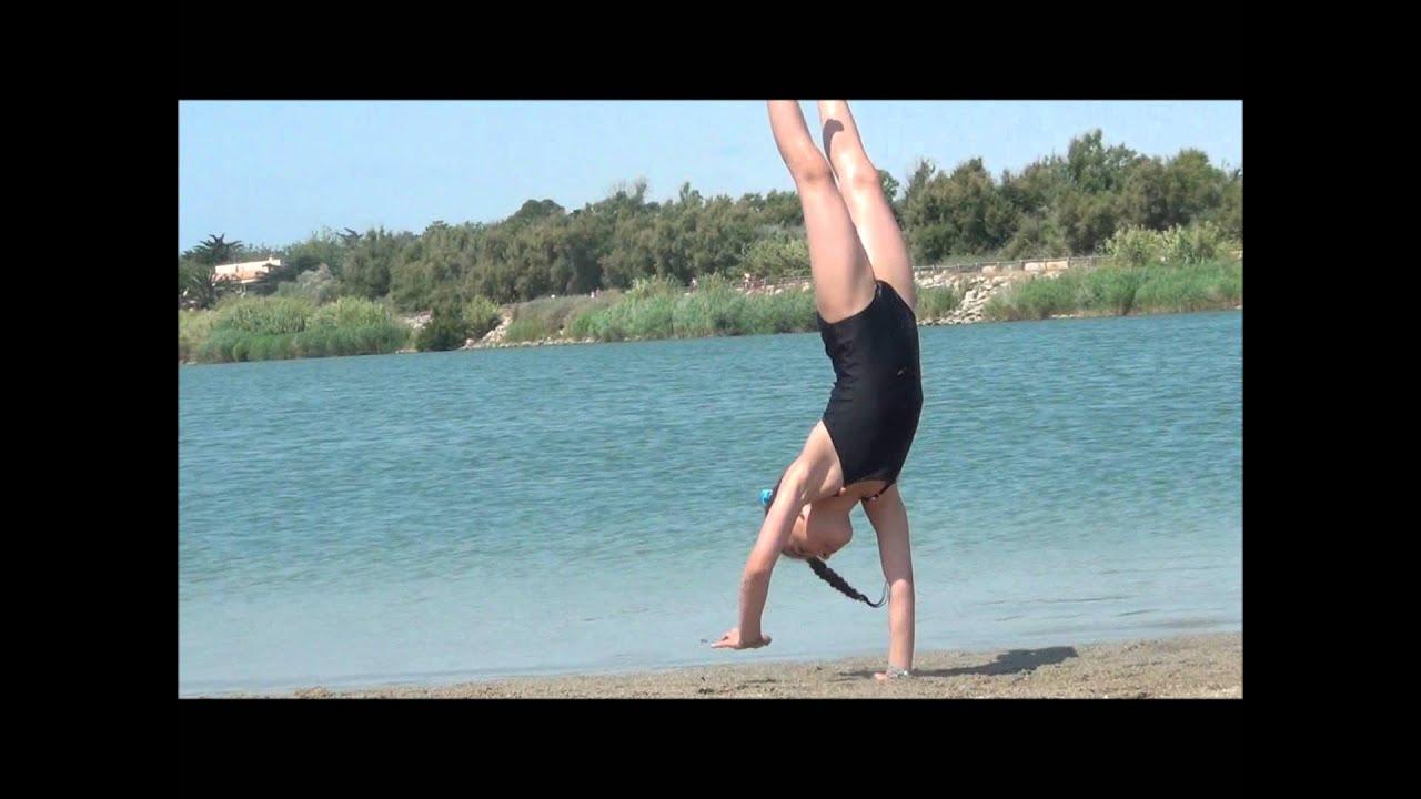 Video De Gym Dans Le Jardin #13: Gym En Vacances - Célia 8 Ans