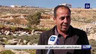 الاحتلال يفرض إجراءات مشددة على مواطني قرية جبع شمال شرق القدس المحتلة - (23-1-2019)