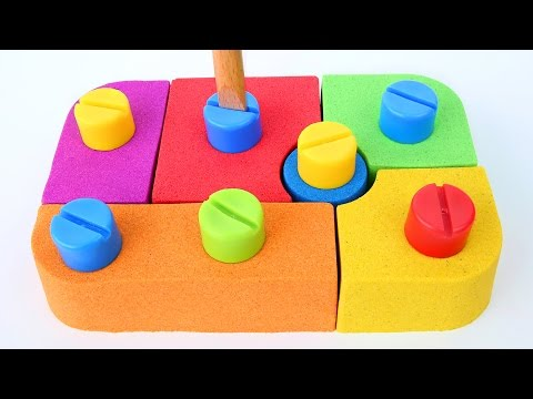 DIY Kinetic Sand Kids Blocks Bolds Fun Play Learn Colors Kin