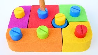 DIY Kinetic Sand Kids Blocks Bolds Fun Play Learn Colors Kinetic Sand Mighty Toys