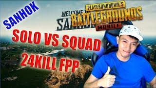 24KILL SOLO VS SQUAD FPP SANHOK - PUBG MOBILE INDONESIA