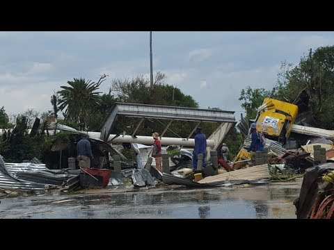 Tornado in South Africa, hailstorm in Gauteng, extreme weather in Zandspruit, Johannesburg