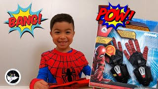 Disney Marvel Far From Home Spider-Man Web Shooter Play set with Milton!!!