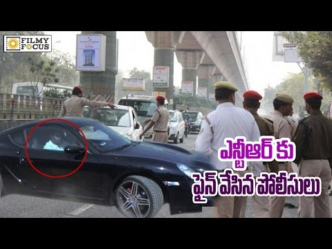 Junior NTR Fined Rs 700 for car Tinted...
