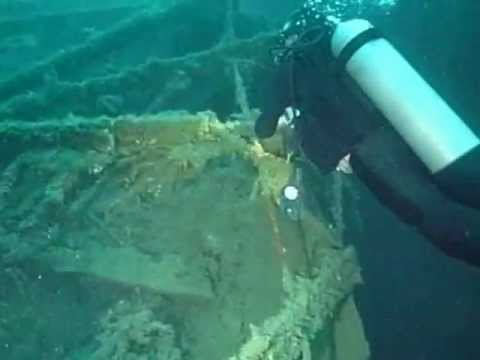 Wreck of the President Coolidge - Propeller Shaft and Rudder to Bow.
