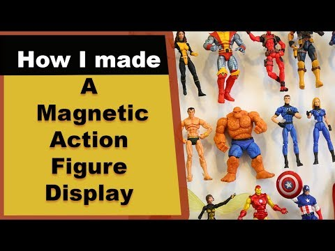 Marvel Universe Display - Using Metal and Magnets to Display Action Figures - Magnaclipz