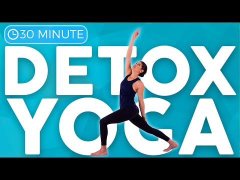 30 minute Full Body Yoga Flow for Detox & Digestion | Sarah Beth Yoga