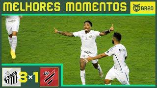 SANTOS 3X1 ATHLETICO-PR - Melhores Momentos - Brasileirão 2020 (16/08)
