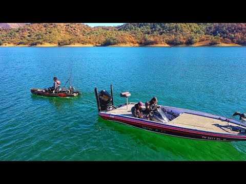 kayak-vs-bass-boat-(1v1-on-lake-berryessa)